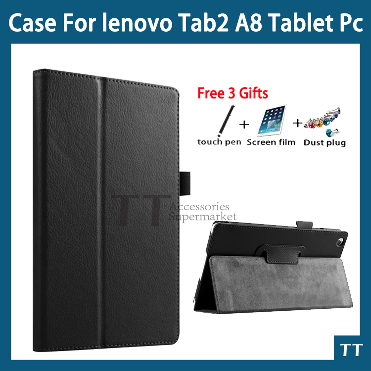 case for Lenovo Tab 3 8 TB3 850F/TB3-850M high quality PU leather cover case for lenovo tab 2 A8-50 A8-50F A8-50LC+free 3 gifts ultra slim case for lenovo tab 2 a8 50 case flip pu leather stand tablet smart cover for lenovo tab 2 a8 50f 8 0inch stylus pen