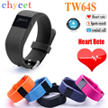 2016 TW64S Bluetooth 4.0 Smart Bracelet smartband IP67 Heart Rate Monitor Wristband Fitness Tracker for Android iOS NO mi band 2