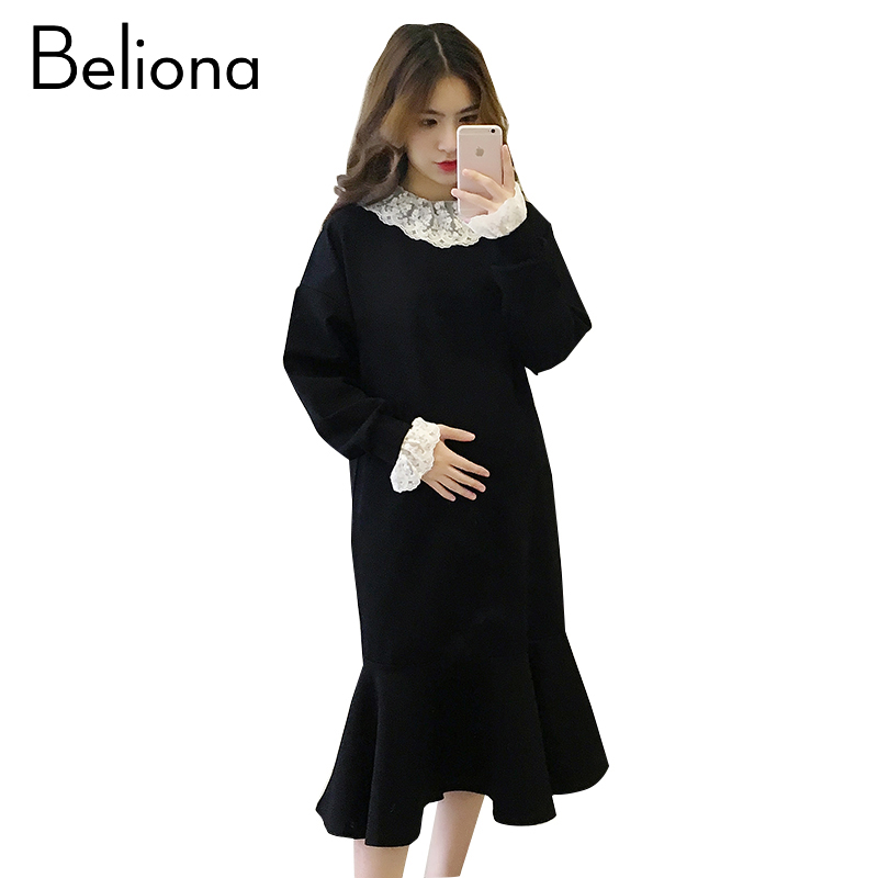 Spring Black Maternity Dress Brief Pregnancy Clothes Fashion Maternity Clothing Of Pregnant Women Autumn 2018