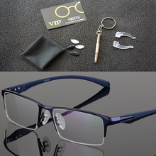 8a38aa15d2ef9 2018 moda titanio rimless ojo Gafas marco marca diseñador hombres Gafas  traje lectura Gafas óptico prescripción lentes