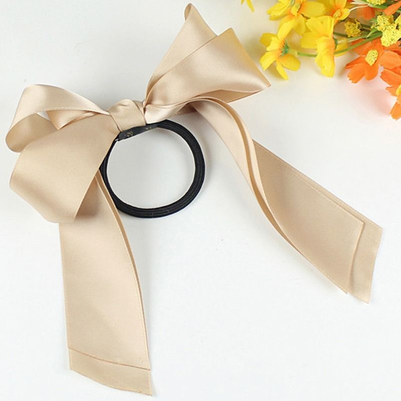 Beige 100 Brand New And High Quality Grosgrain Ribbon Bow