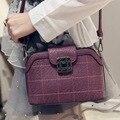 2017 Shell Women Leather Handbag Plaid Small Women'S Bags Female Ladies Purse Bag Diamonds Crossbody Shoulder Bag Sac A Main 779