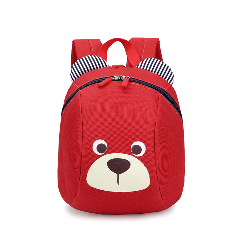 Cute Animal Dog Children Backpack Kindergarten Bear School Bag Mochila Escolar Age 1-3 Toddler Backpack Anti-lost Kids Baby Bag