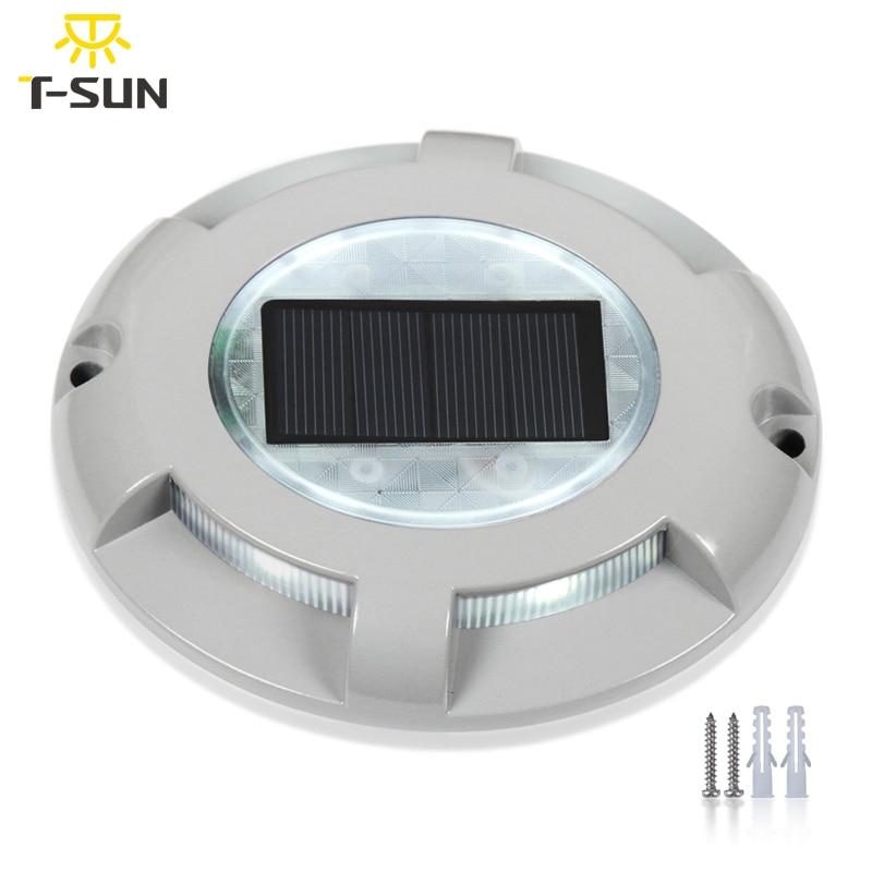 T-sunrise 2 Pack Outdoor Solar Licht Led-strahler Garten Lampe Solar Gutter Licht Außen Beleuchtung Für Outdoor Sicherheit Solarlampen Außenbeleuchtung