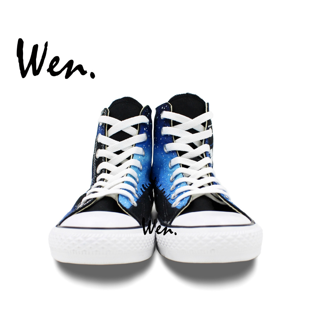 Wen Ručno oslikane Canvas Cipele Dizajn Custom Pandorica Tardis - Tenisice - Foto 5