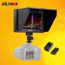 "Viltrox 7 ""DC-70 II Clip-on HD ЖК-HDMI AV Вход Камеры видео Монитор Дисплей и Аккумулятор и Зарядное Устройство для Canon Nikon DSLR BMPCC"