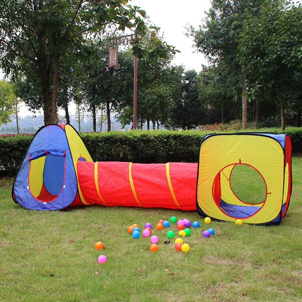 Bébé jouer maison jouet tentes multicolore enfants tunnel pour enfants maison portable bébé tente balles piscine tentes