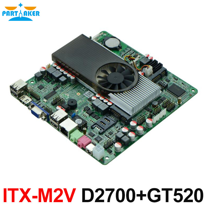 Slim Mini-ITX Motherboard Atom D2700 with NVIDIA ION3 GT520 for IPC HTPC mini itx motherboard with ops interface for digital signage