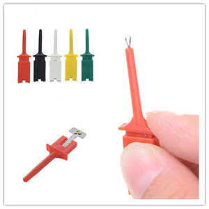 Image 1 - 10 adet/takım Testi Kanca SMD IC 6 Renkler Klip Grabbers Testi Probe