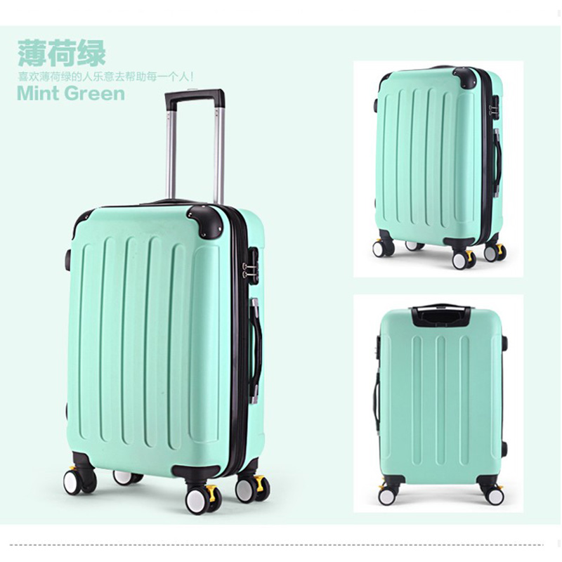 HOT!Fashion 2024 inches girl trolley case ABS students lovely Travel waterproof luggage rolling suitcase extension Boarding box 2024 inches combination lock trolley case abs students women travel frosted luggage rolling suitcase men business boarding box