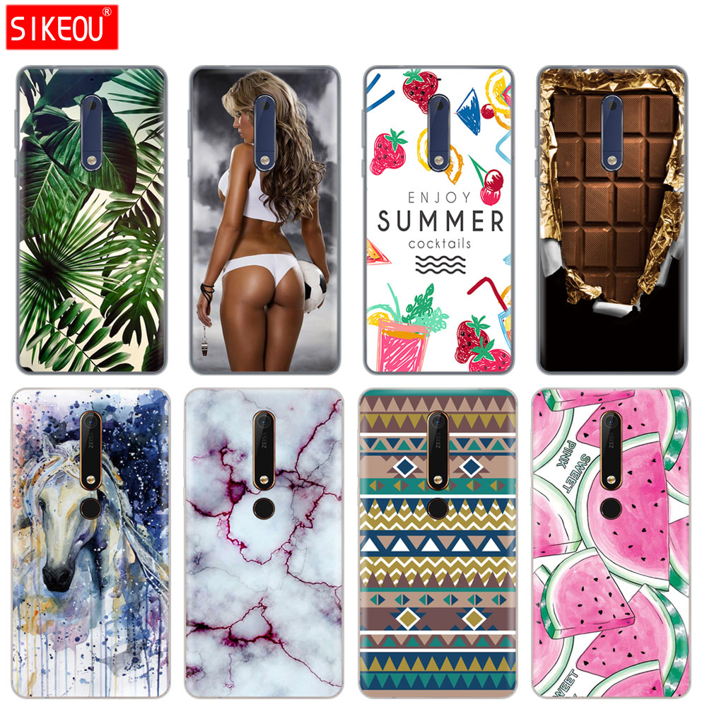 SIKEOU cover phone <font><b>case</b></font> for <font><b>Nokia</b></font> 5 <font><b>3</b></font> 6 7 9 /<font><b>Nokia</b></font> 6 2018 soft tpu sillicone transparent green leaves cute funny <font><b>dog</b></font> cartoon image