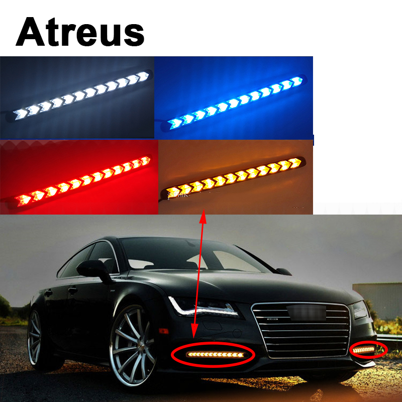 Atreus 2X Car with Yellow Steering Fog Day <font><b>Turn</b></font> <font><b>Signals</b></font> <font><b>LED</b></font> For VW polo <font><b>passat</b></font> b5 <font><b>b6</b></font> Mazda 3 6 cx-5 Toyota corolla Ford focus 2 image
