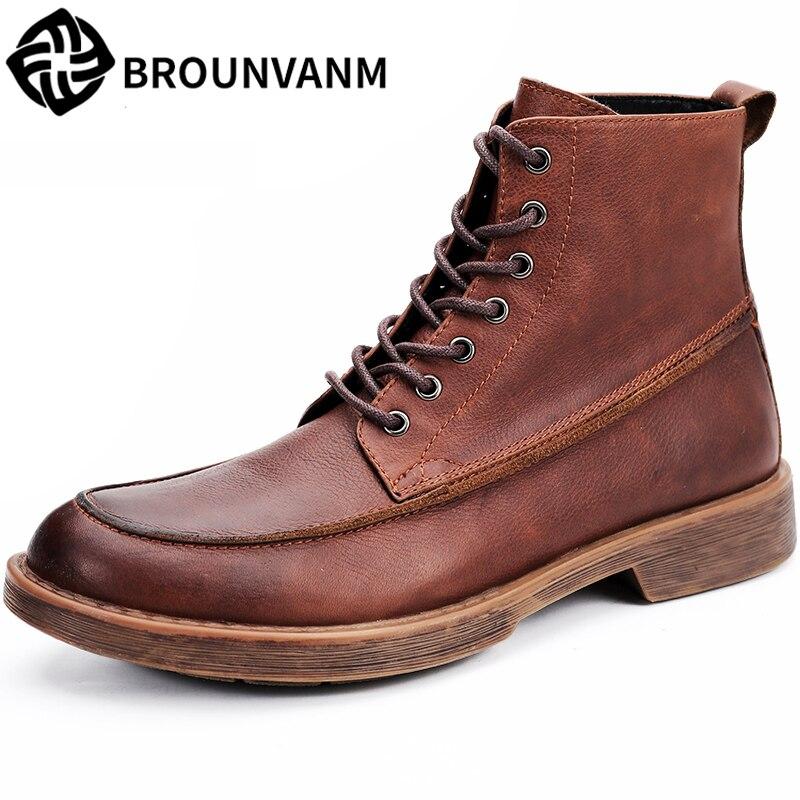 big size Martin Boots High top shoes men chelsea boots mens autumn winter all-match cowhide Desert boots dress boots male