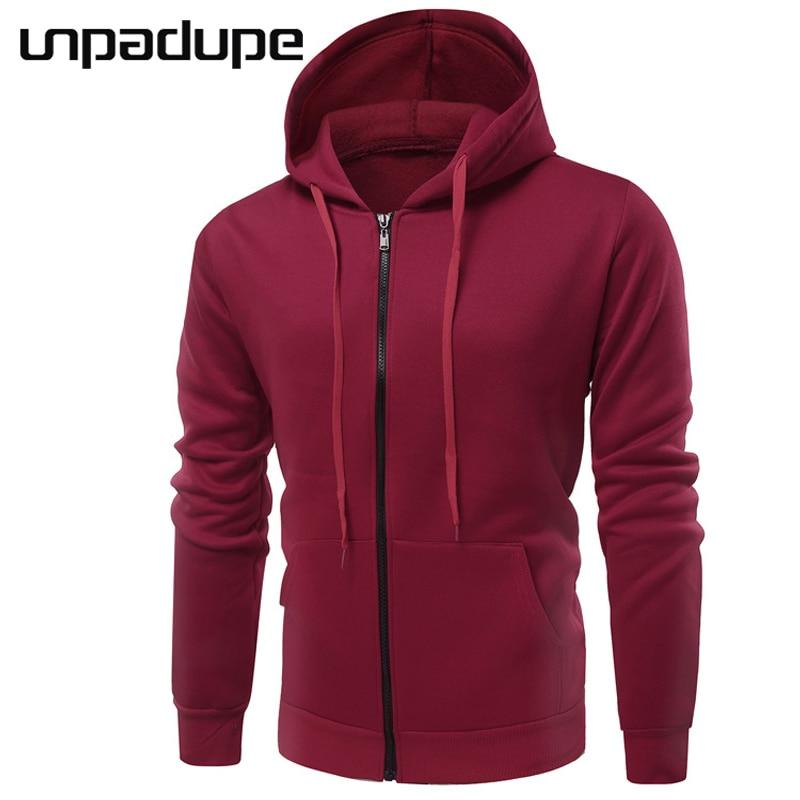 Hoodies Men 2018 Male Long Sleeve Hoodie Pure Color Plus Velvet Sweatshirt Mens Moletom Masculino Hoodies Slim Tracksuit