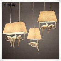 Modern Style Creative Cloth Art Bird LED Chandelier Restaurant Den Decoration 85 220V Hotle Lamp