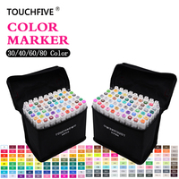 TouchFive 80 Colors Sketch Markers Dual Head Professional Art Marker Set For Manga Anime Marker Stabilo