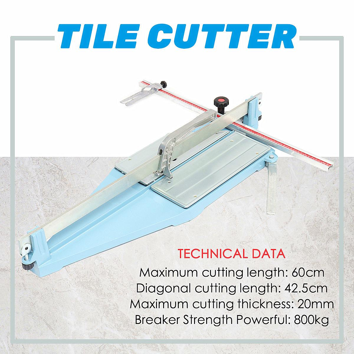 Multifunction 60CM Manual Desktops Ceramic Tile Cutter Home Diy Tile Cutting Machine Tool Heavy Duty Angle Adjustable Hand Tools