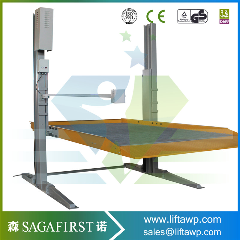Hydraulic Electric 4 Post Car Parking Lift For 2 Cars