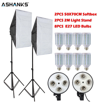ASHANKS 160 W LED Fotografia di Illuminazione Softbox Kit Macchina Fotografica Photo Studio Video Luce Lampadina + Del Basamento Della Luce per Youtube