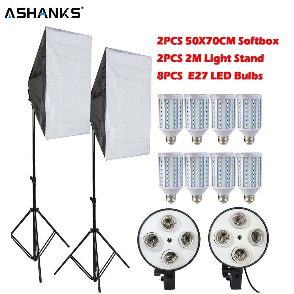 ASHANKS 160 W led éclairage de photographie kit de boîte à lumière Caméra Photo Équipement de Studio éclairage vidéo Ampoule + pied de projecteur pour Youtube