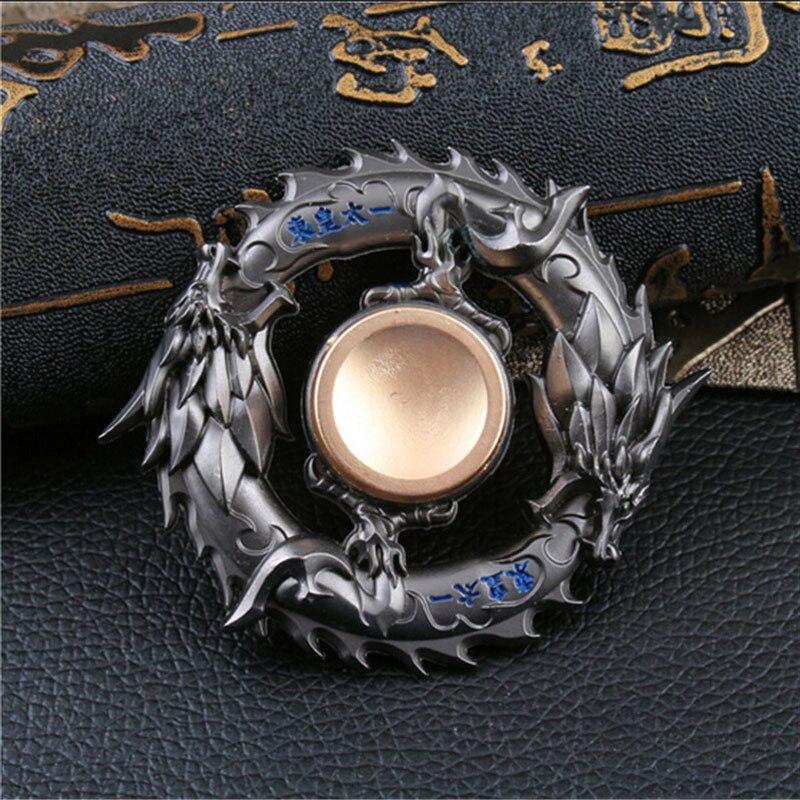Дракон Металлический фиджет Спиннер цинковый сплав гироскоп поворотный EDC ручной Спиннер для аутизма и СДВГ фокус стресс кончик пальца B0442