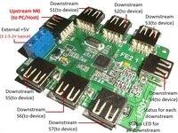 FE2.1 USB2.0 HUB Data Hub Controller 1 Drag 7 Self / Dual Mode Bus Power Supply Module Board