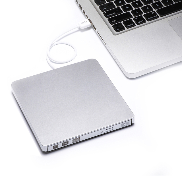 Usb 3.0 unidade óptica cd/dvd-rom player gravador de dvd-rw burner escritor superdrive externo para laptop computador apple imacbook pro