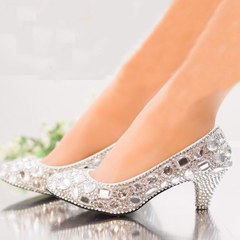 Moyen De 3cm 6cm Heels Bal 14cm Mariage Silver Demoiselle Cristal 10cm Femininos Parti Sapatos Argent Flat silver Chaussures Pompes Talon 8cm Valentine Strass Femmes D'honneur 12cm Heels q8wRAnCIx