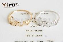 Любовные дружба изысканный письма прохладный простой сплава кольца симпатичные моды женщины
