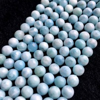 High Quality Natural Genuine Dominican Republic Sky Blue Larimar Round Loose Gems Beads 6 12mm 15 06008