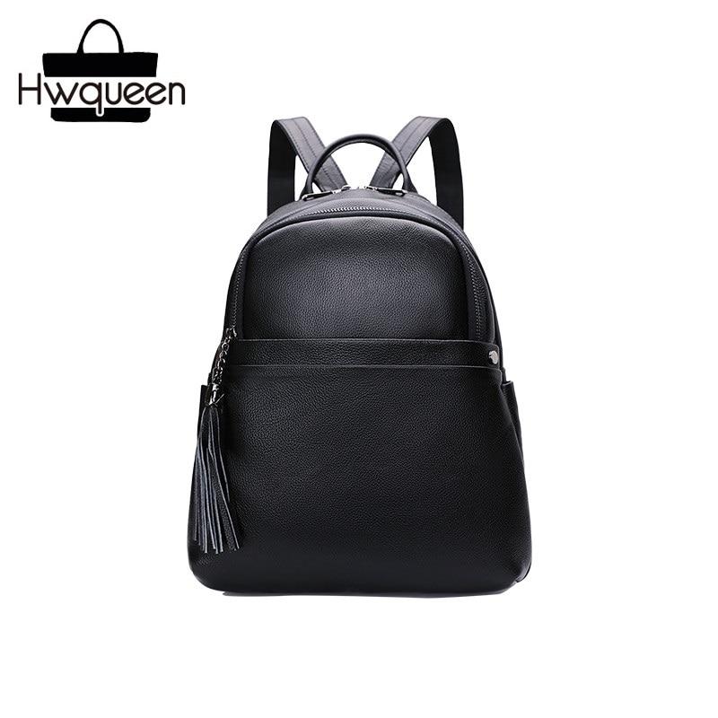 Classical Designer First Layer Genuine Leather Zipper Closure Lady Medium Size Backpack Cow Skin Female Women