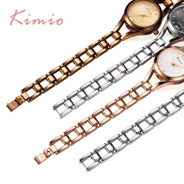 KIMIO Simple Watches Women Rose Gold Watch Women Fashion Clock Ladies Elegant Bracelet Watch Womens Quartz Watches Top Brand