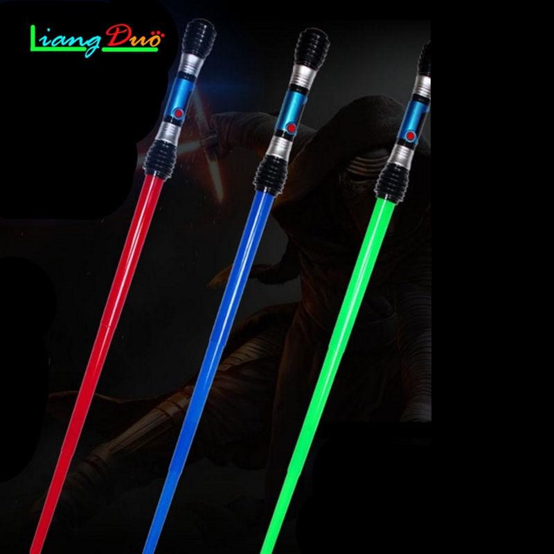 Boy Toys Gift Sword Cosplay Props Flashing Lightsaber Star Wars Laser Sword Children's Outdoor Toys Music Luminous Telescopic