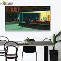 Nighthawks классический художественный Репродукция холст печать постер Искусство Большой размер настенные картины для гостиной домашний декор