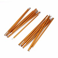 2Pcs Set Outdoor Camping Tent Pole Aluminum Alloy Tent Rod Spare Replacement Tent Support Poles Tent