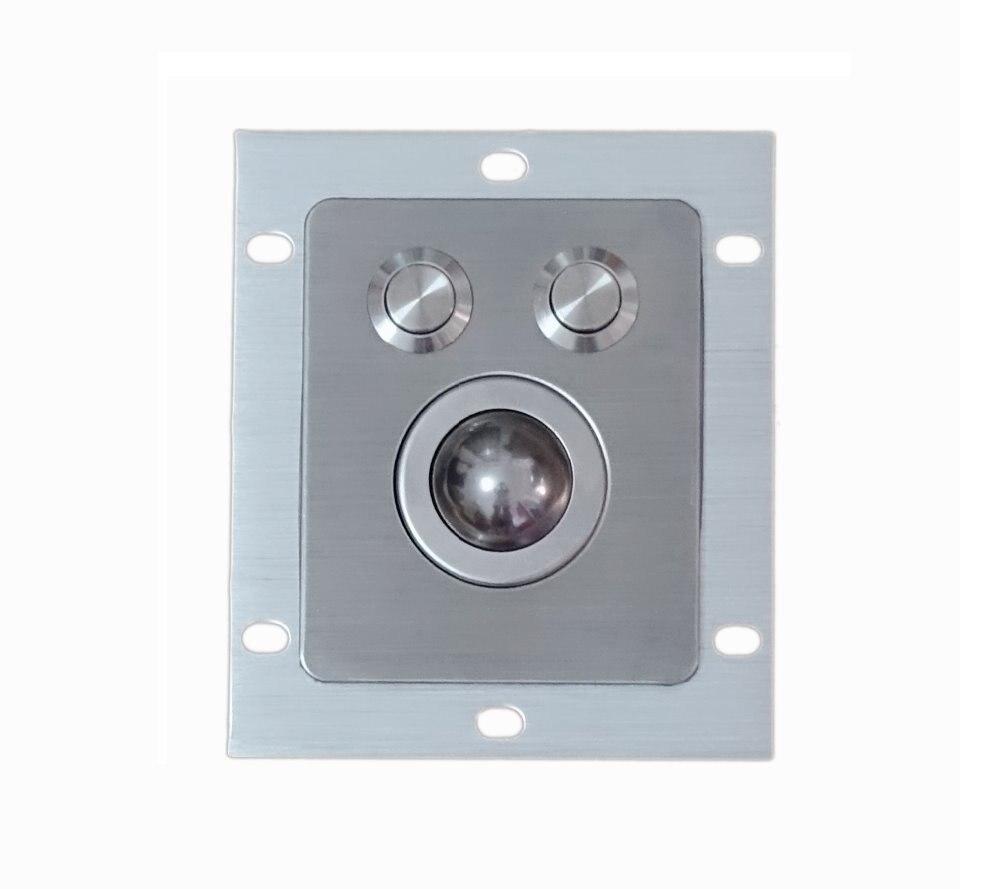 fully IP67 sealed optical laser 800dpi resolution rain resistant waterproof 25mm stainless steel metal trackball 2