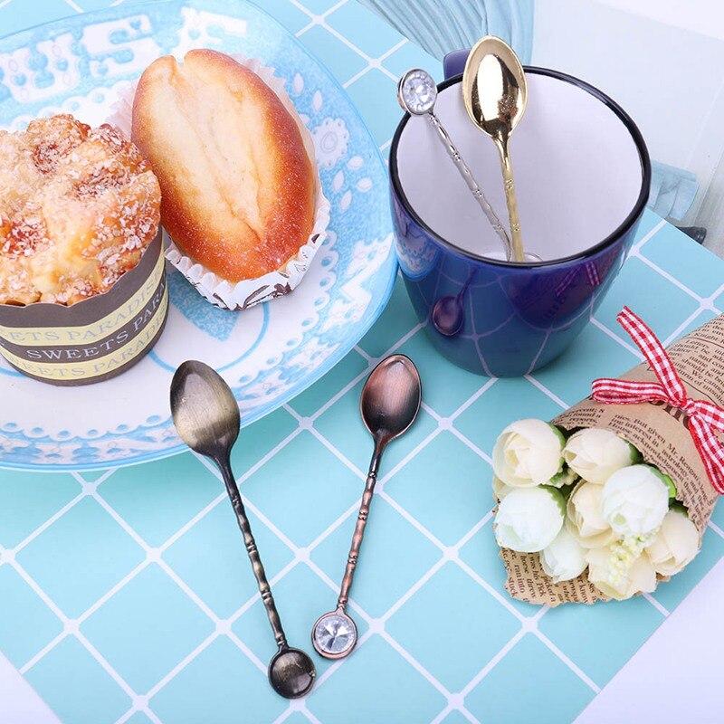 Cartoon Cat Stainless Steel Tea Coffee Spoons Ice Cream Cutlery Tableware Trend~