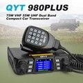 QYT 980 ПЛЮС 75 Вт УКВ 55 Вт UHF Dual Band Quad Ожидания красочный Экран Хэм Mobile Radio Автомобиль Автомобиль Трансивер 200Ч + Динамик Mic