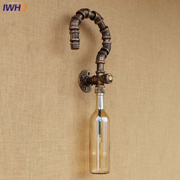 American Loft Industrial 1 lights iron rust Water pipe retro wall lamp Vintage E27 sconce lights for living room restaurant bar wheat breeding for rust resistance