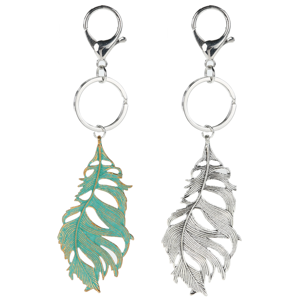 Aliexpress.com : Buy 2 Colors Keychains Green Silver Leaf