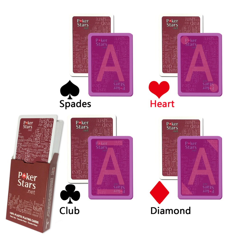 Marked Cards,Poker Stars Infrared Magic Marked Cheat Playing Cards For Perspective Contact Lenses