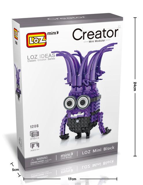 Minions DIY Mini Blocks Brick Toy