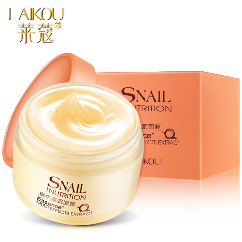 LAIKOU Snail Essence Face Sleeping Mask Beauty Anti Aging Face Night Cream Wrinkle Removal Moisturizing Brightening Skin Care