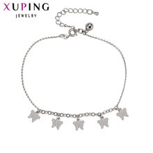 11.11 Xuping Fashion Anklet New Arrival Rhodium Color Plated High Quality Luxury Foot Chain Jewelry Special Gift for Women 72687(China)