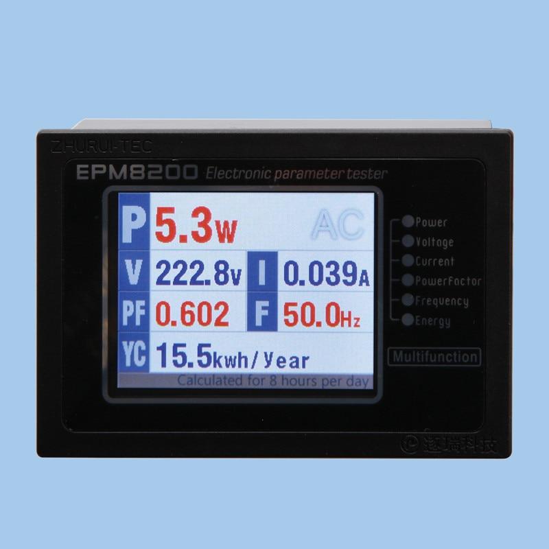 EPM8200 AC teljesítménymérő digitális wattmérő kwh méter - Mérőműszerek - Fénykép 3
