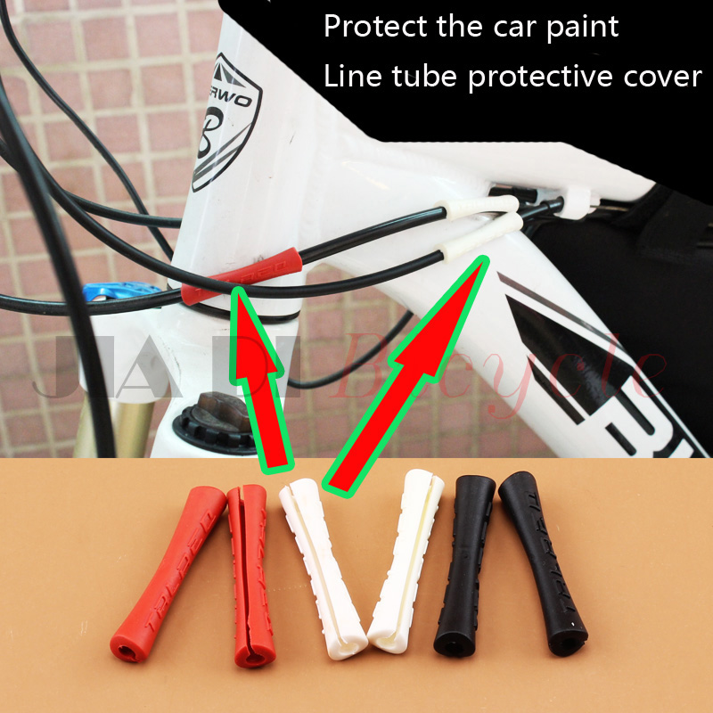 4Pcs or 8pcs bike brake cable protective sleeve pipe case derailleur shift cable protector housing cover for bike frame guide