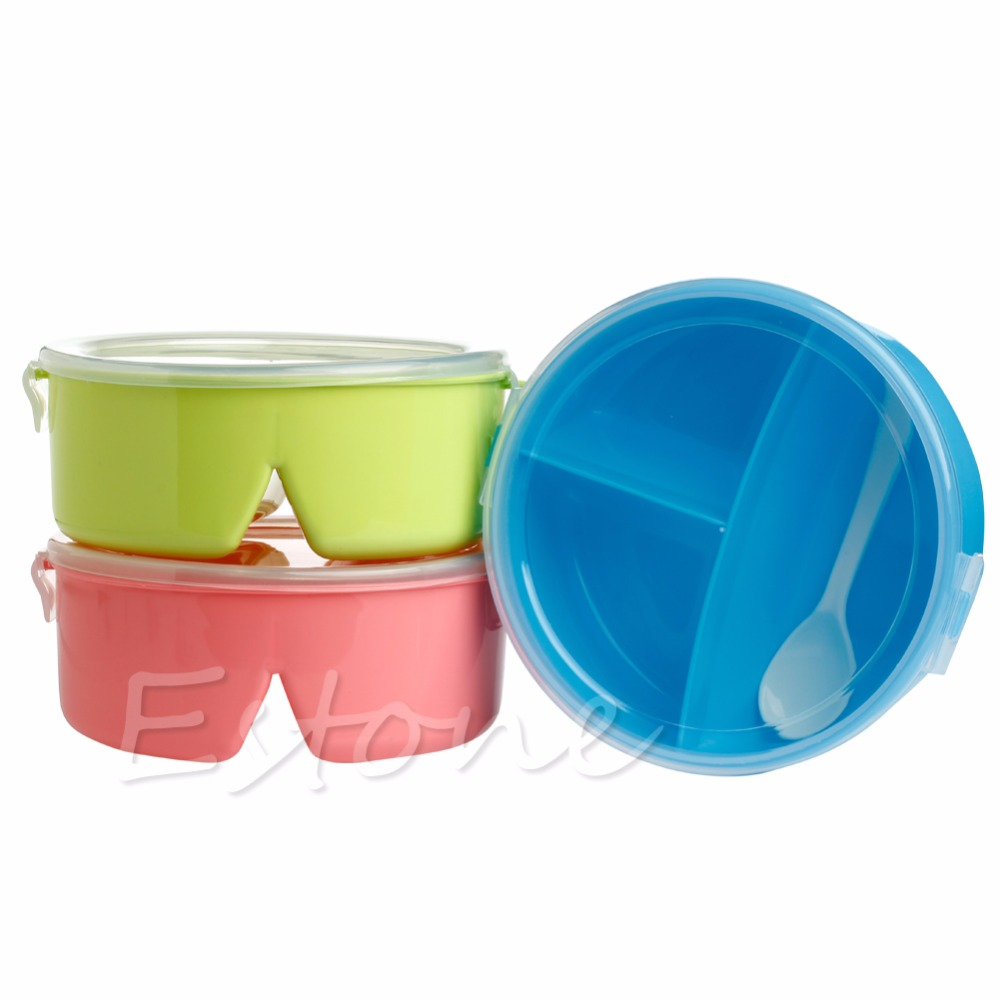 1pc portable round microwave lunch bento box picnic food container storage randomly color in. Black Bedroom Furniture Sets. Home Design Ideas