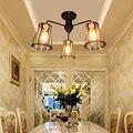 Винтажная промышленная Хрустальная E27 Светодиодная люстра из кованого железа 220 В для гостиной спальни столовой Кабинета ресторана отеля з...