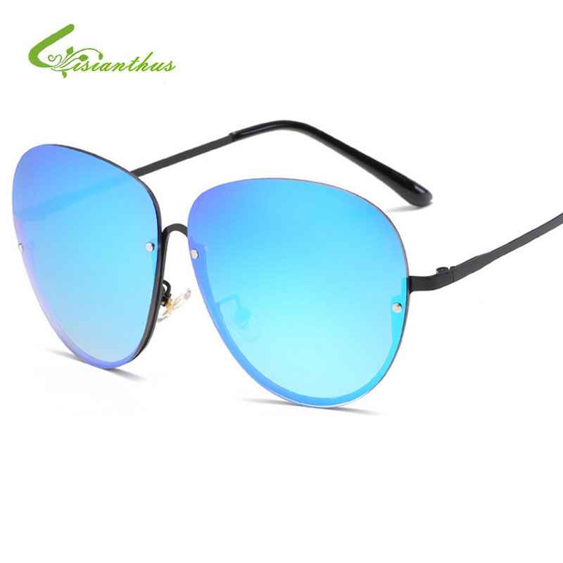 2019 Retro Sunglasses Women Mirror Color Reflective Lens Men Designer Brand Classic Unisex Eyewear Female Shades Glasses Uv400 Superior (In) Quality