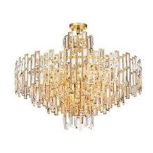 Jmmxiuz Moderne Lustre En Cristal Pour Le Salon De Luxe Cristaux Suspendus Luminaires Ou LED Lustres De Cristal